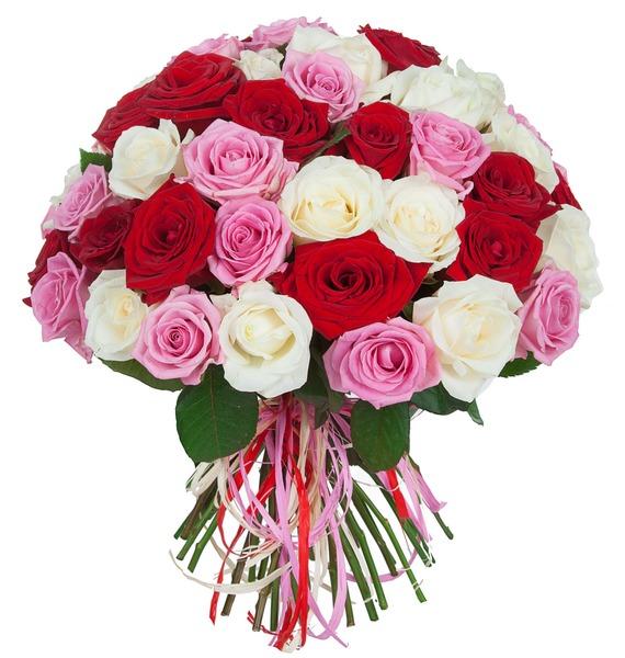 Букет роз Ягодное лето (35, 51 или 101) букет букет окошко в лето в коробке