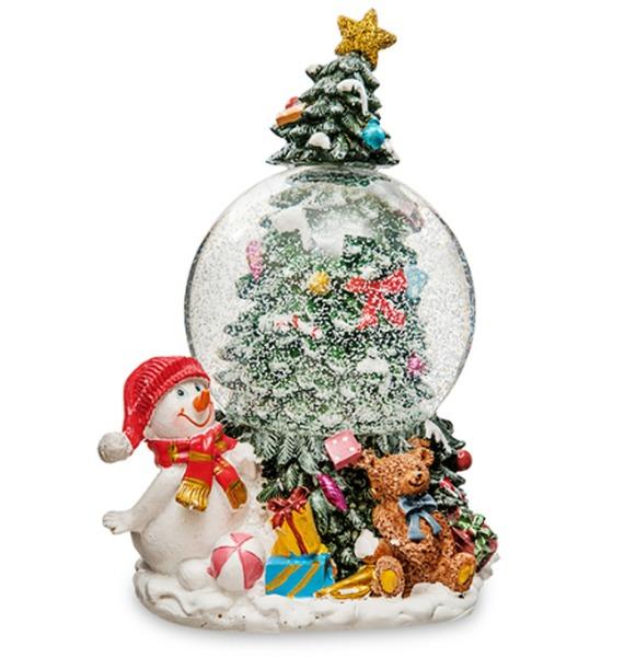 Музыкальный шар с подсветкой и снегом Снеговичок – фото № 1