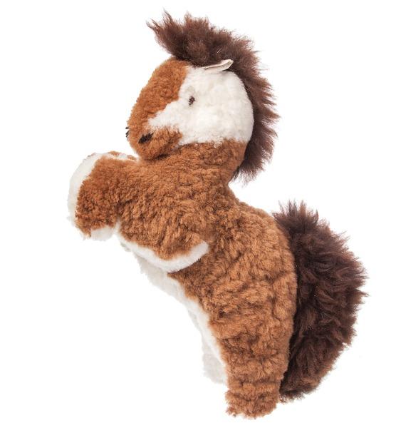 """цена на Игрушка из натурального меха """"Лошадь"""" (коричневая)"""