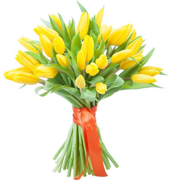 Букет тюльпанов Луч солнца (31 или 45) – фото № 1