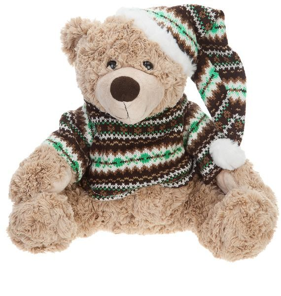Мягкая игрушка Мишка Генри в свитере и шапке (28 см)