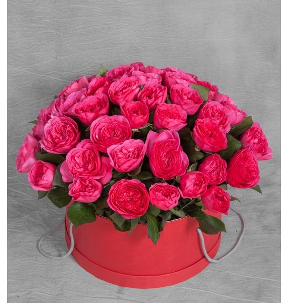Композиция из 51 розы Baronessa композиция из 201 розы мишень купидона