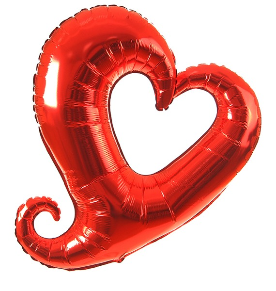 Воздушный шар Цепь сердец (94см) воздушный шар qp 2 0431