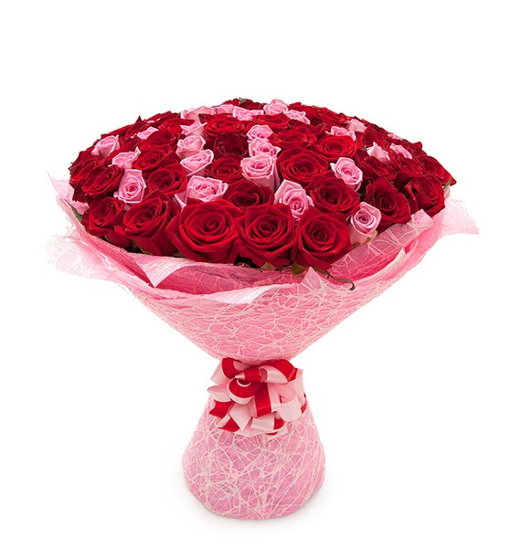 Букет из 101 розы Импровизация – фото № 2
