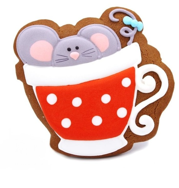 Пряник Мышонок в чашке