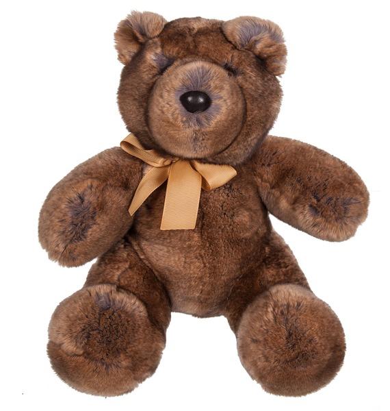 Игрушка из натурального меха Медведь одежда из меха etam 140234111 14 14023411147
