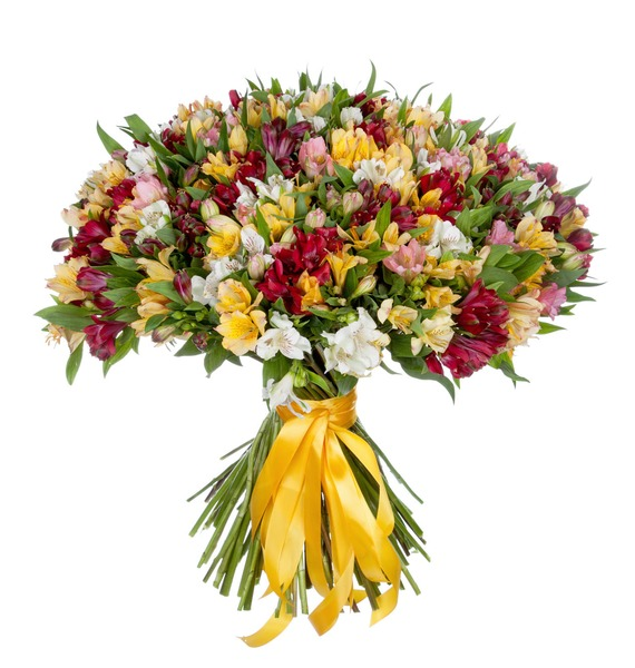 Bouquet Fires (51, 101 or 151 alstroemeria) – photo #2