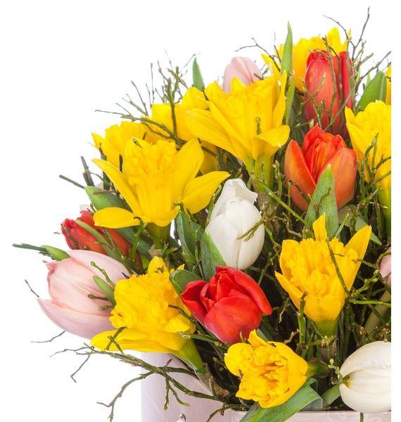 Композиция в вазе Улыбка весны – фото № 2