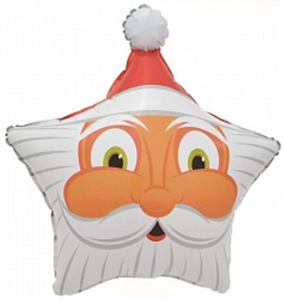 Воздушный шар Санта (48 см) воздушный шар поросенок с игрушкой 79 см
