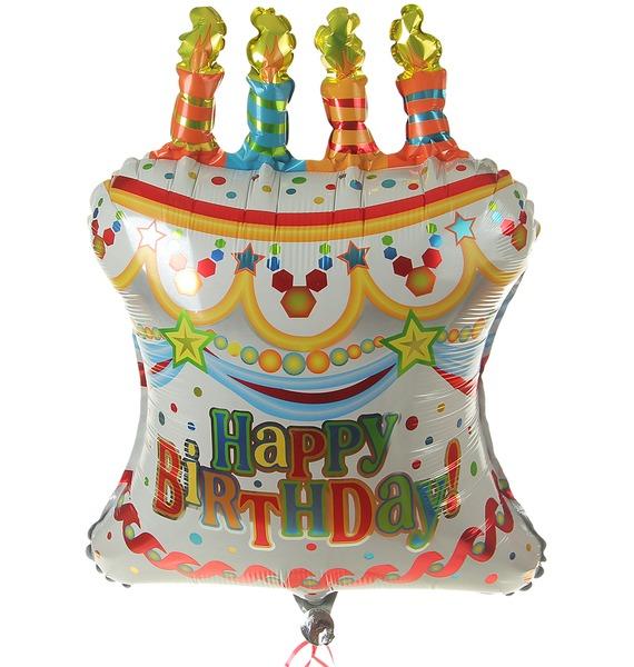 Воздушный шар Торт С Днем Рождения (71см) страна карнавалия шар воздушный с днем рождения корона 5 шт