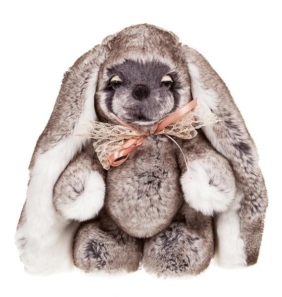 Фото - Игрушка из натурального меха Зайка Няша жакет из меха козлика