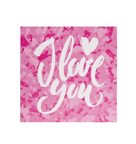 """Шоколадная открытка """"I love you"""""""