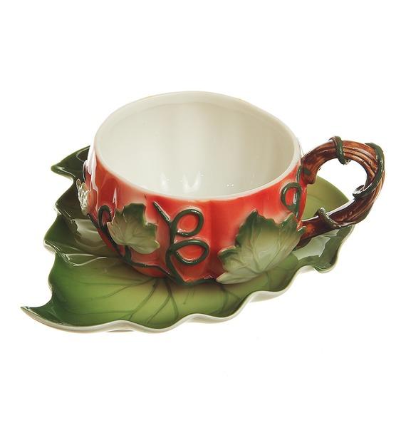 Чашка с блюдцем Тыква
