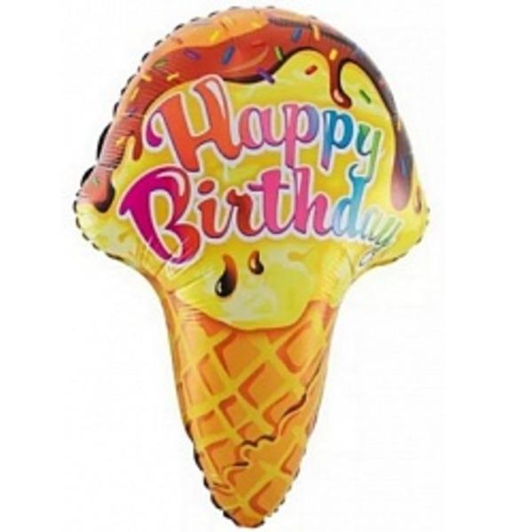 Воздушный шар Мороженое (71 см) цена