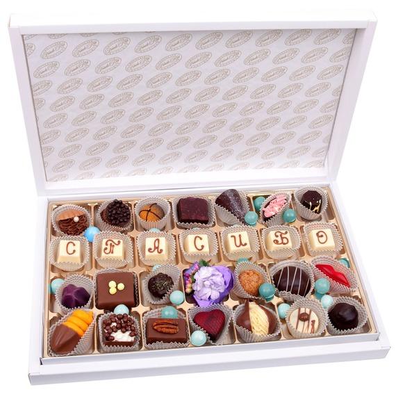 Конфеты ручной работы из бельгийского шоколада Спасибо