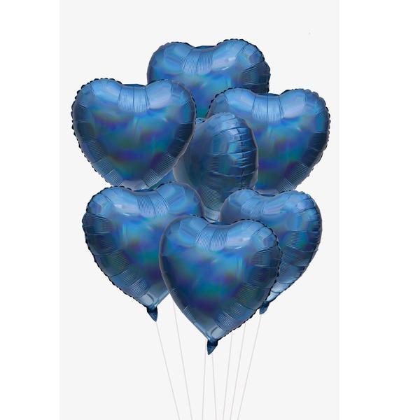 Фото - Букет шаров Голубые сердца. Голография (7 или 15 шаров) букет шаров красные сердца 9 или 18 шаров