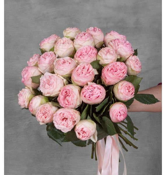Букет из пионовидныз роз Bridal Piano (15, 25 или 51) – фото № 5