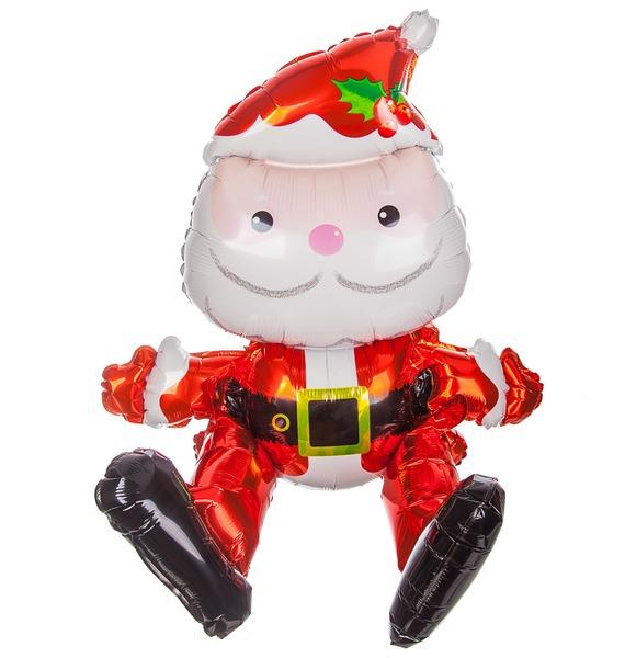 Воздушный шар Сидячий Дед Мороз (51 см) дед мороз маленький селенит 6 см