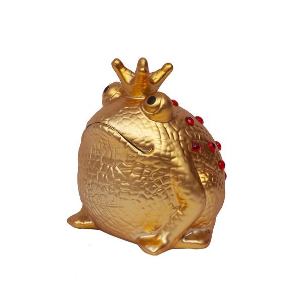 Копилка Золотая Царевна Лягушка (с красными кристаллами)