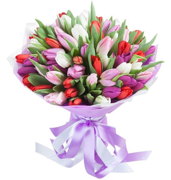 Букет Ассорти (51 тюльпан)