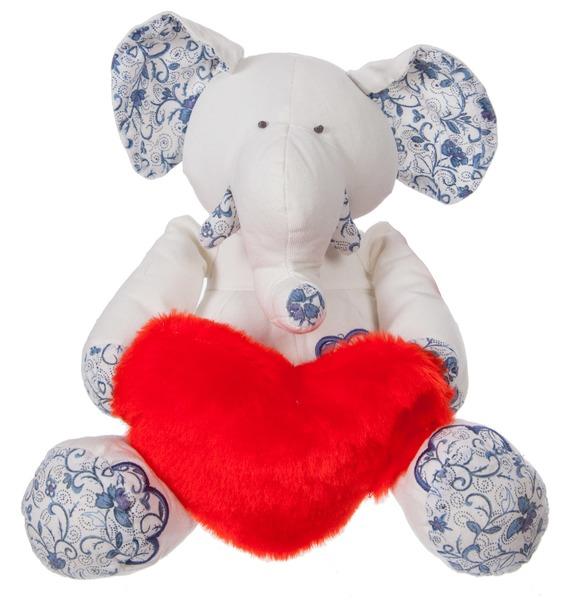 Мягкая игрушка Слон с сердцем (26 см) цена