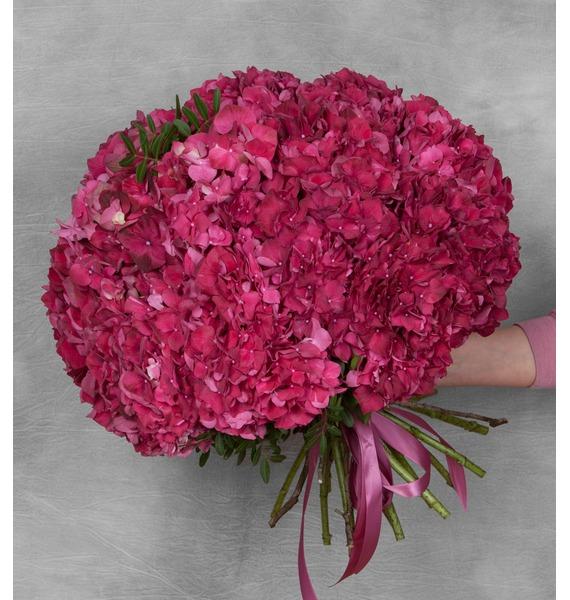 Букет гортензий Ruby Red (17 или 35) – фото № 2