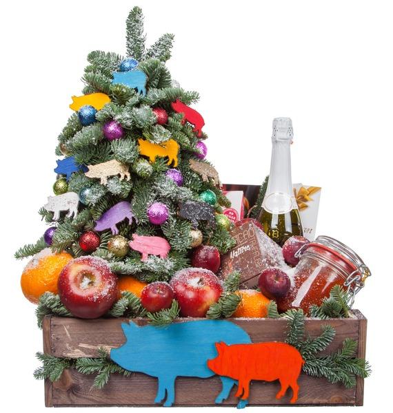 Подарочное кашпо Праздник души (Игристое вино в подарок) – фото № 4