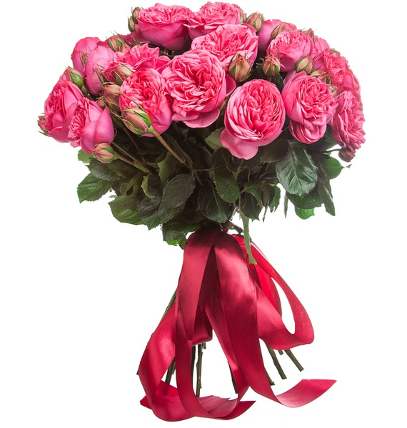 Букет из пионовидных роз Pink Piano (15, 25 или 51) – фото № 3