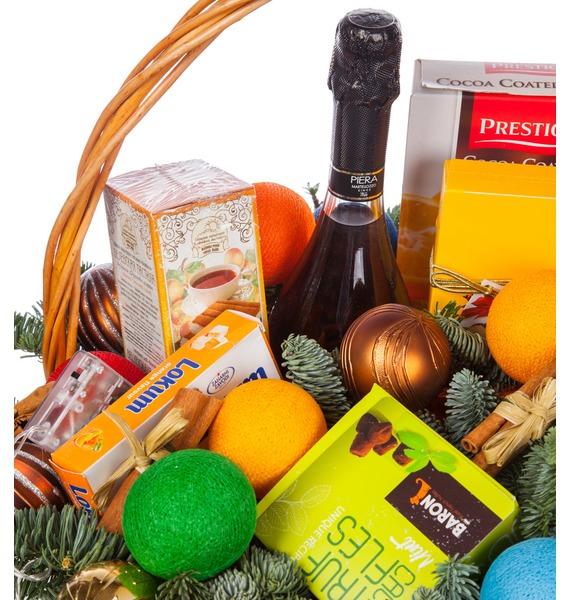Подарочная корзина Радуга вкуса (Игристое вино в подарок) – фото № 3