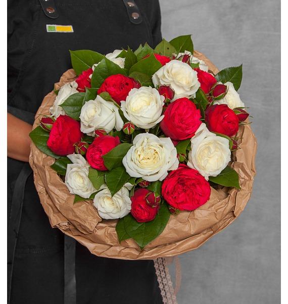 Букет из пионовидных роз Вечность (15, 25 или 51) – фото № 1