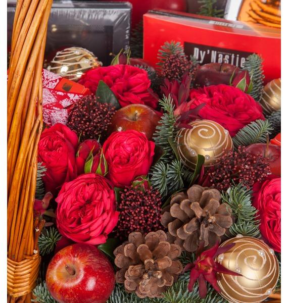 Подарочная корзина Зимняя Love Story (Игристое вино в подарок) – фото № 2