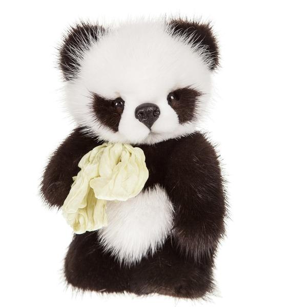 Игрушка из натурального меха норки Панда (17 см)