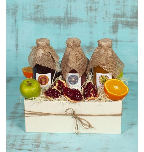 Подарочная коробка Витаминный заряд подарочная корзина фруктовый заряд