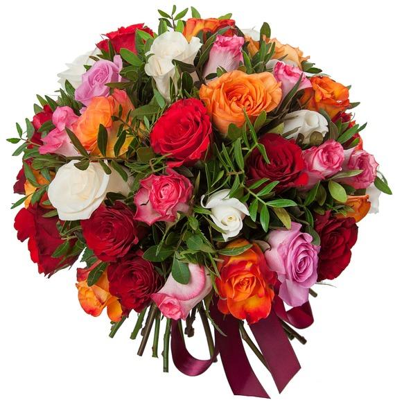 Букет Радуга (51 или 101 роза) 101 роза