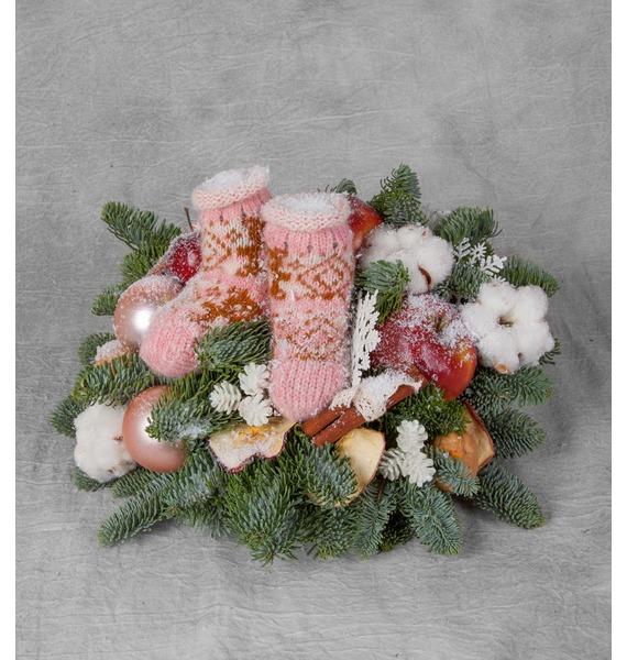 Композиция Снегопад композиция подарок осени
