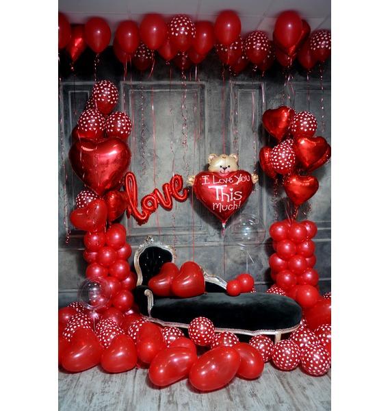 Оформление шарами в стиле Любовь! – фото № 1