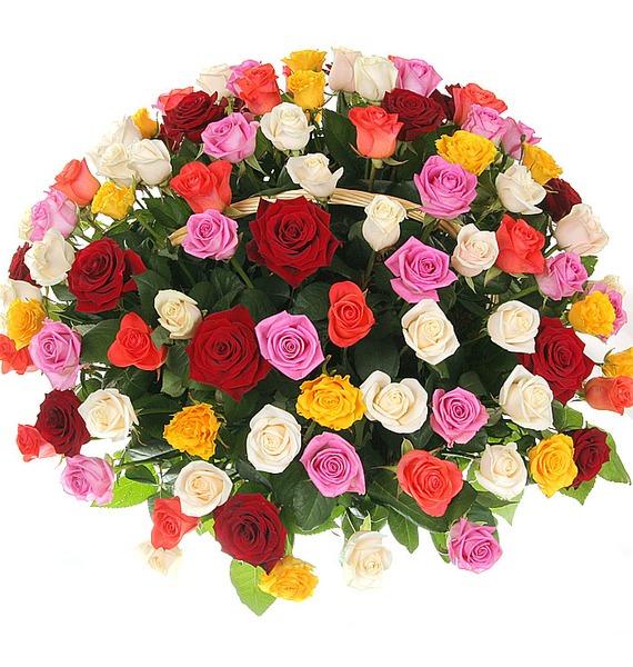 Композиция Праздничный салют (51, 101 или 201 роза) – фото № 3