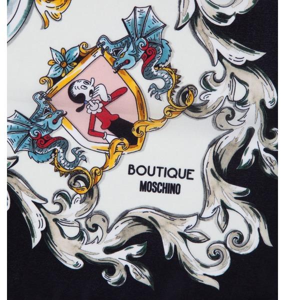 Шелковый платок MOSCHINO Classic (Италия, 50х50 см) – фото № 2