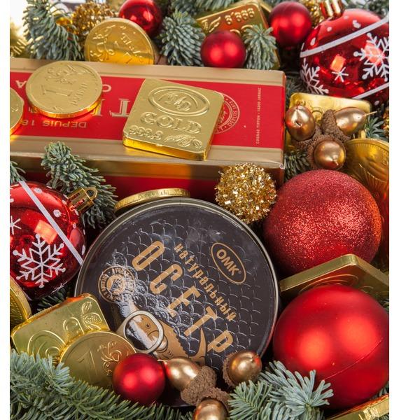 Подарочное кашпо Золотой вкус (Коньяк в подарок) – фото № 2