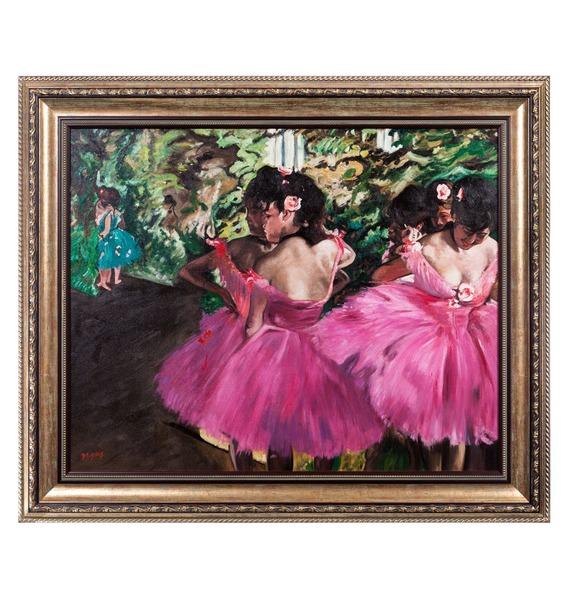 Картина Э. Дега Танцовщицы в розовом (90х80см.) – фото № 1