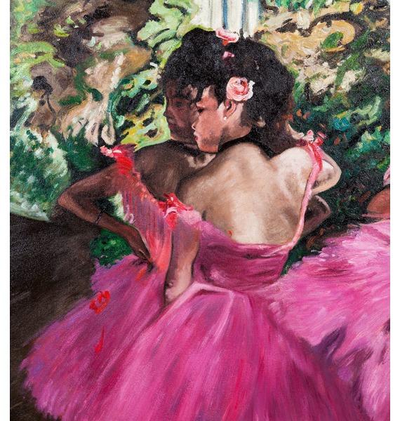 Картина Э. Дега Танцовщицы в розовом (90х80см.) – фото № 4
