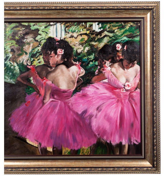 Картина Э. Дега Танцовщицы в розовом (90х80см.) – фото № 3