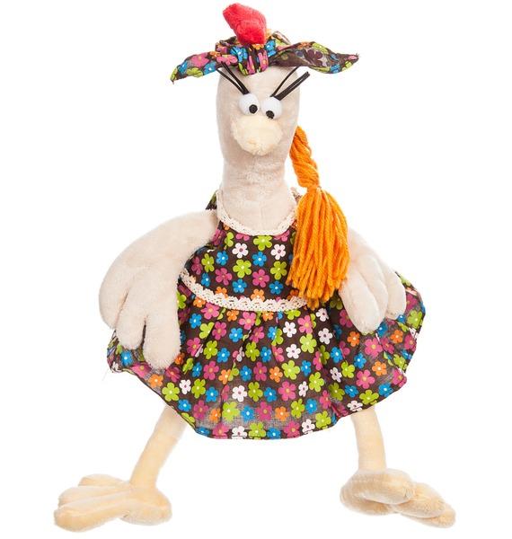 Мягкая игрушка Курочка в Сарафане (28 см) мягкая игрушка gulliver курочка марфа