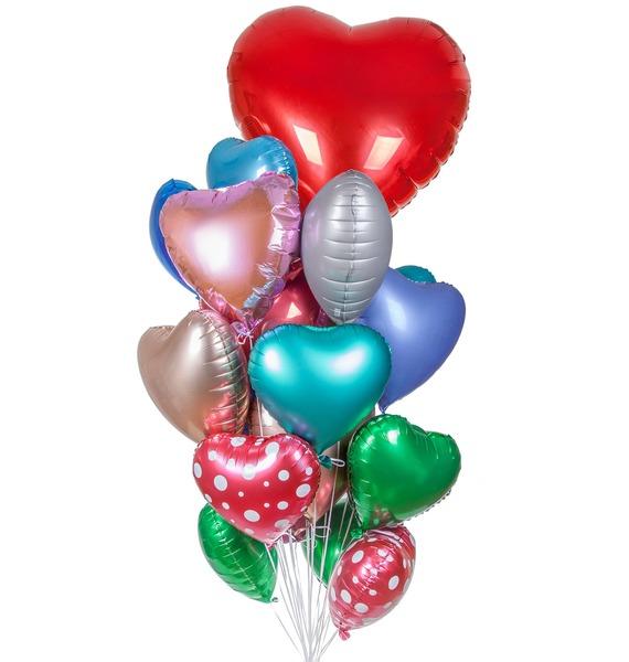 Букет шаров Фантастическое признание (25 или 51 шар) – фото № 1