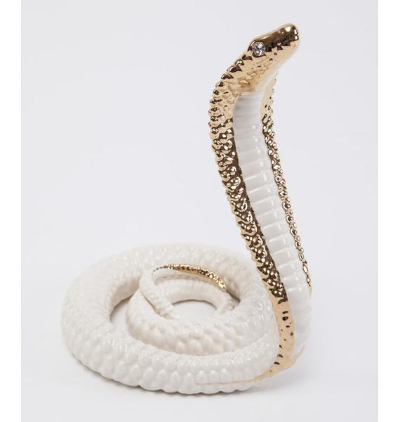 Статуэтка Золотая кобра. Chinelli, Италия