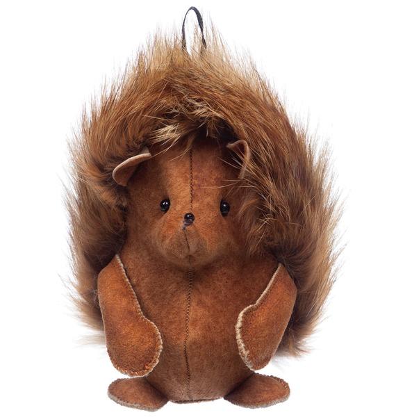 Брелок из натурального меха Ёжик рюкзак заяц из натурального меха
