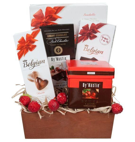 Фото - Подарочная корзина Шоколадная радость подарочная корзина осеннее танго