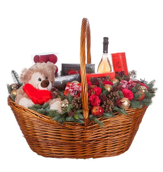 Подарочная корзина Зимняя Love Story (Игристое вино в подарок) – фото № 5