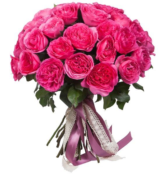 Букет из пионовидных роз Баронесса (15, 25 или 51) букет лизиантусов 15 25 или 51