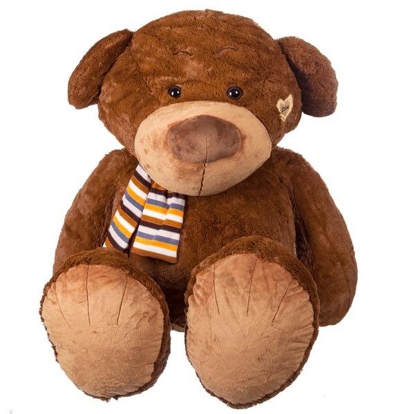 Мягкая игрушка Медведь в шарфе (80 см) мягкая игрушка медведь пузатый большой нижегородская игрушка см 377 5